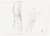 two figure compositions (2 works) by preben hornung