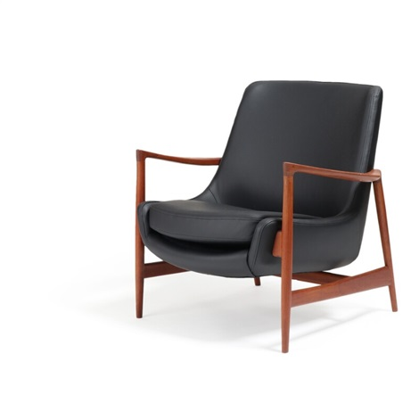 Magnificent A Teak Easy Chair Upholstered With Black Leather By Ib Inzonedesignstudio Interior Chair Design Inzonedesignstudiocom