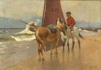 shipwrecked on the danish coast by franz gustav hochmann