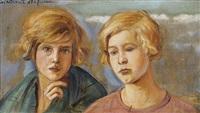 porträt zweier mädchen by vlatislav hofmann