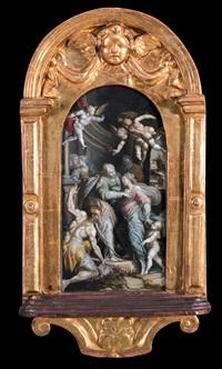 incontro della vergine con santa elisabetta by giovanni dei vecchi