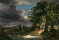 paisaje nublado by vicente camaron y torra