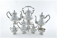 tea and coffee service (set of 7) by carlo mario camusso