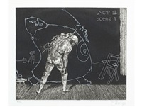 act iii, scene 9 (from ubu tells the truth) by william kentridge