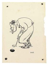 golfer under pressure by henry mayo bateman