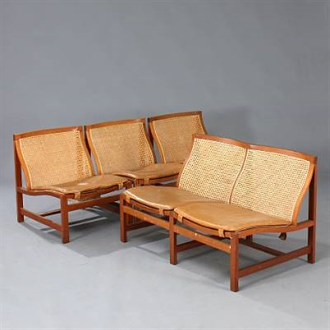 Kongeserie Sofa And Chairs (set Of 5) By Rud Thygesen And Johnny Sørensen