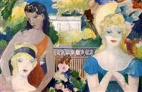 drei damen im kurpark von baden-baden by ludwig wilhelm grossmann