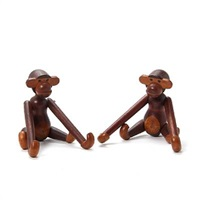 monkeys (pair) by kay bojesen