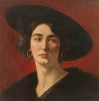 weiblicher kopf by oswald gottfried