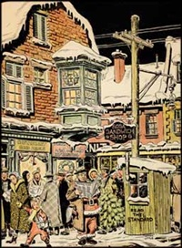 atwater ave., corner of notre dame street by john geoffrey caruthers little