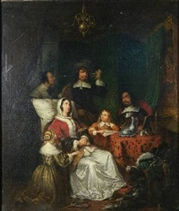 interior scene by frans van mieris