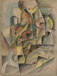 cubist figure by ivan ivanovskij