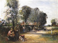 gipsies at the bell inn by john robertson reid