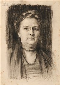portrait of willia alice wilson page (1858-1942) by john singer sargent