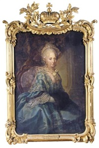 portrait of duchess philippine charlotte, wife of duke karl i by anna rosina lisiewski