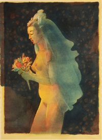 nude bride by milton glaser