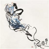奔月图 立轴 设色纸本 by liu han