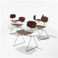 set of six beaubourg chairs by michel cadestin and georges laurent