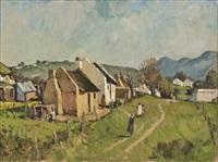 figures within a rural settlement by piet (pieter gerhardus) van heerden