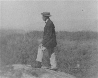 self portrait in the berkshires by henry van der zee