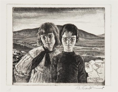 the west of ireland by gerald leslie brockhurst