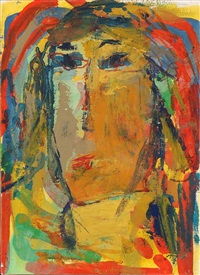 Composition with face of a woman, 1994