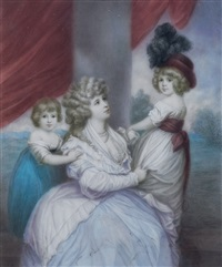 ritratto di nobildonna con figlie by ernst resch