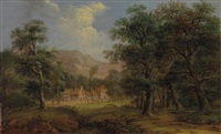 bewaldete landschaft by jakob manskirch