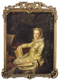 portrait of duchess philippine charlotte, wife of duke karl i by johann georg ziesenis