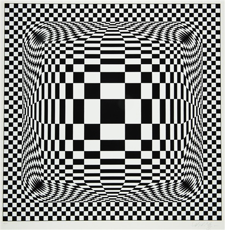 damier noir et blanc by victor vasarely on artnet. Black Bedroom Furniture Sets. Home Design Ideas