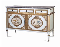 a louis xvi style polychrome painted and marble top commode by anonymous-french (20)