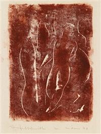 holzschnittmappe (portfolio of 10 w/title) by walter wörn