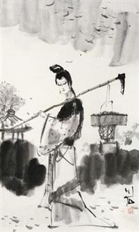 黛玉葬花 by fu xiaoshi