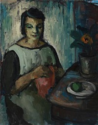 woman at a table by ruth weber