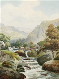 waterfall by william henry mander