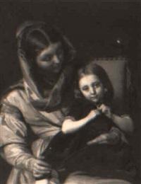 on mother's knee by alexandre (lammlein) laemlein