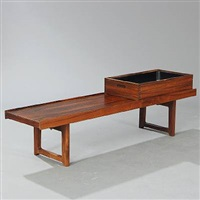 krobo bench with matching flower box (pair) by torbjørn afdal