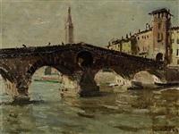 die ponte pietra in verona by max friedrich rabes