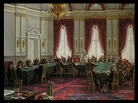 der berliner kongress im palais des fürsten bismarck by carl johann arnold