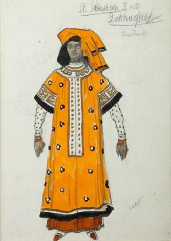 st sébastien ii acte deux costumes by leon bakst