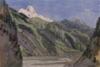 valley in the caucasus by anna petrovna ostroumova-lebedeva