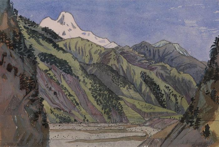 valley in the caucasus by anna petrovna ostroumova lebedeva