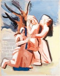 trois femmes dans un paysage by roger van gindertael