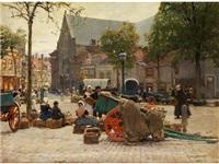 markt in vlissingen by hans herrmann