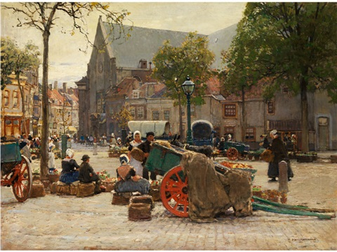 markt in vlissingen by hans herrmann