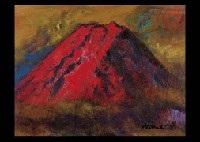 mt. fuji (red mt. fuji) by nahiko tsukigata