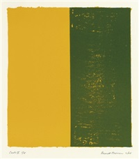 canto x, from 18 cantos by barnett newman