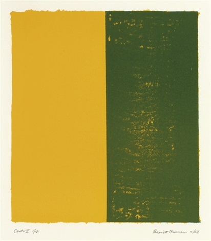 canto x from 18 cantos by barnett newman
