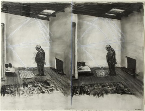 the film stereoscope drawing by william kentridge