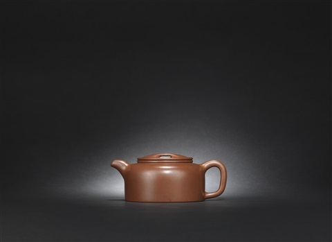 an yixing ox snout lotus teapot and cover by pei shimin